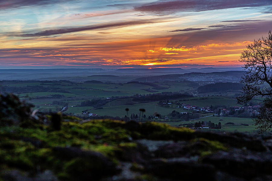 Sunset in the southern Harz Mountains by Andreas Levi