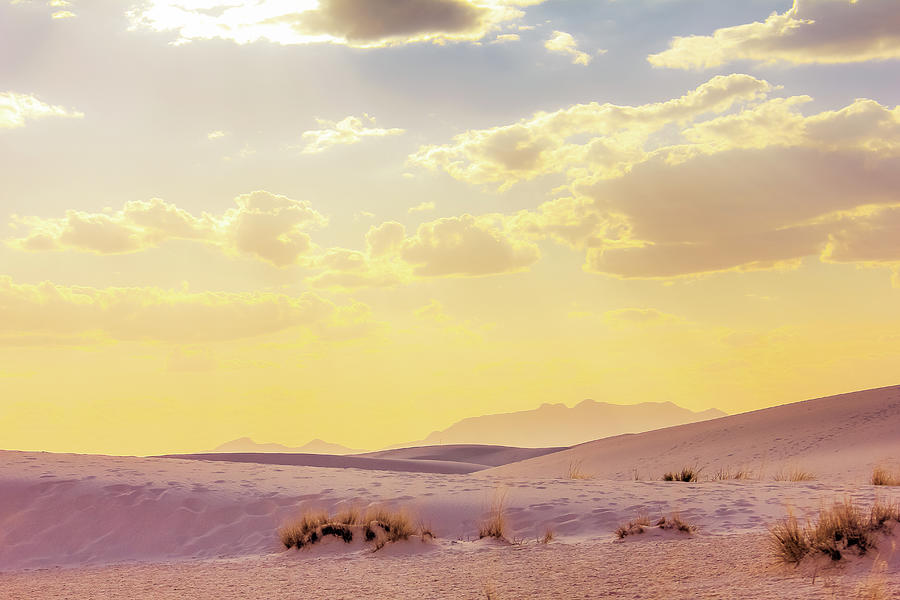 Sunset In White Sands National Park -  Las Cruces, New Mexico Photograph