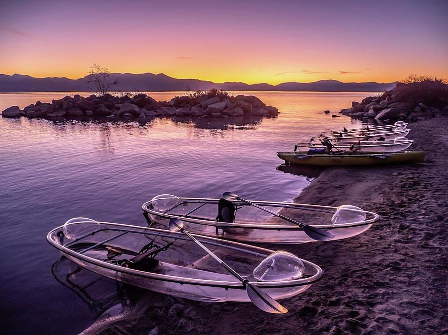 Sunset Kayak by Martin Gollery