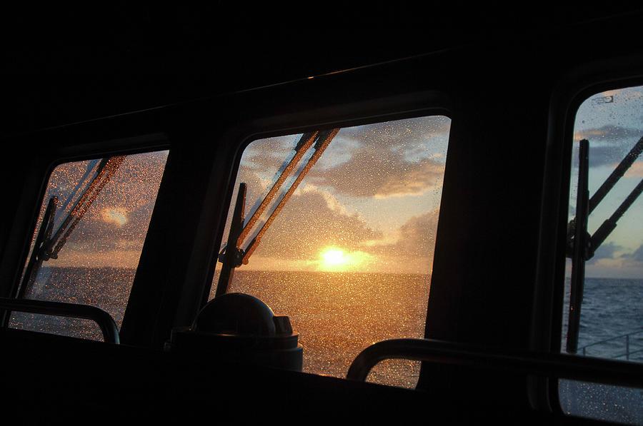 SUNSET MID ATLANTIC VOYAGE by David Shuler