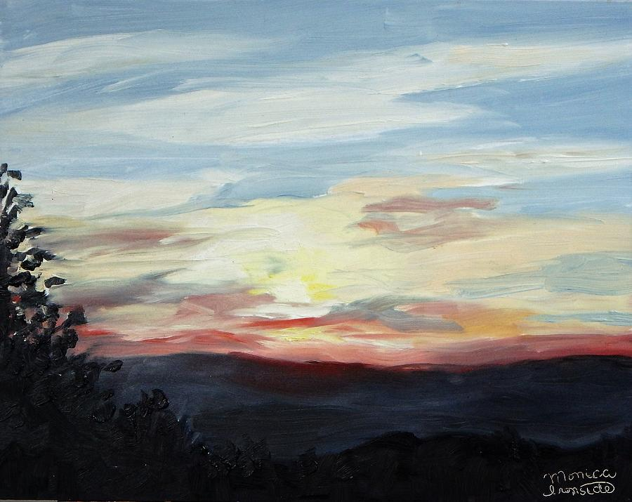 Sunset Painting - Sunset by Monica Ironside