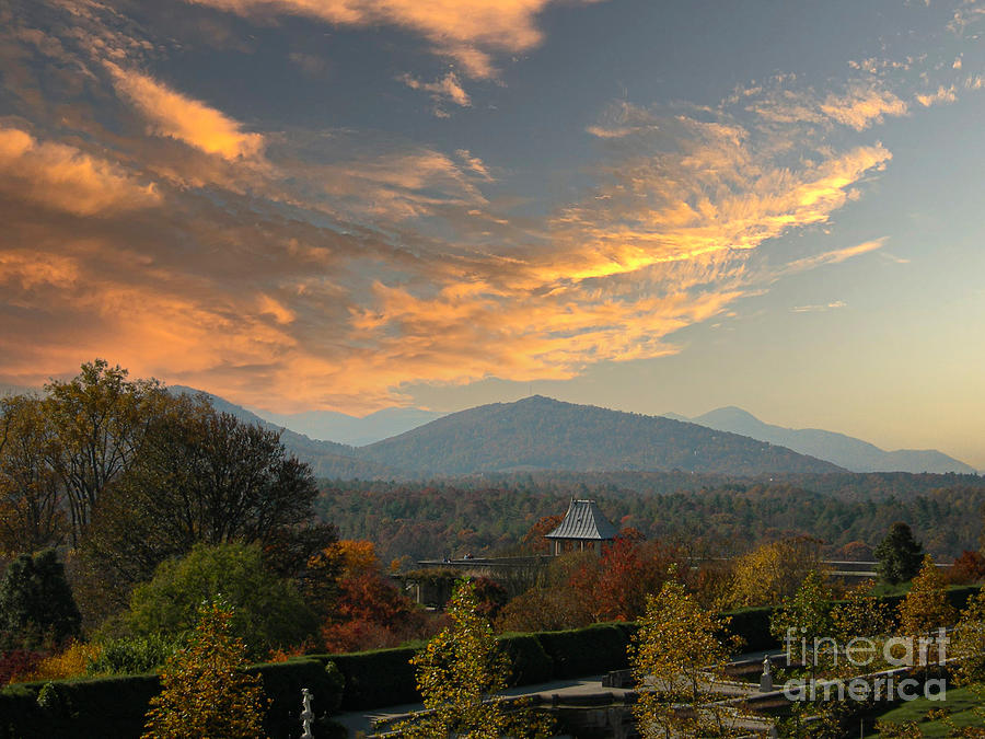 Sunset Mountain View - Biltmore Estate Photograph
