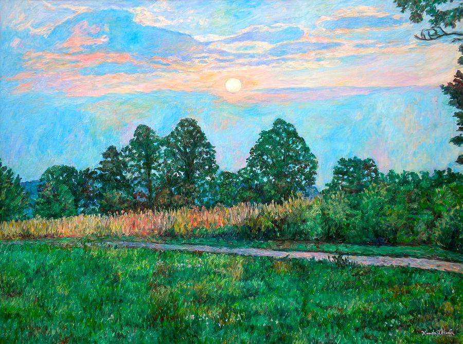 Blue Ridge Mountains Painting - Sunset Near Fancy Gap by Kendall Kessler