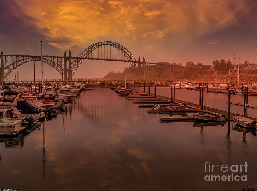 Sunset Newport Harbor Photograph