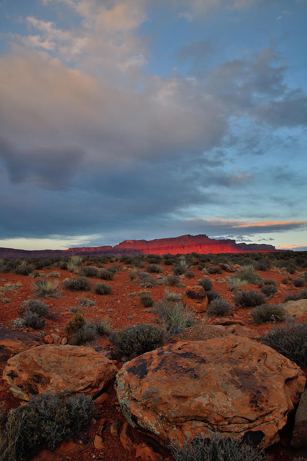 Sunset On Fisher Towers In Utah Photograph