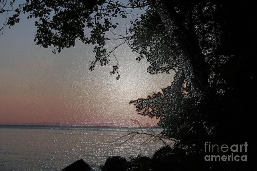Sunset Photograph - Sunset on Lake Winnipeg by Mary Mikawoz