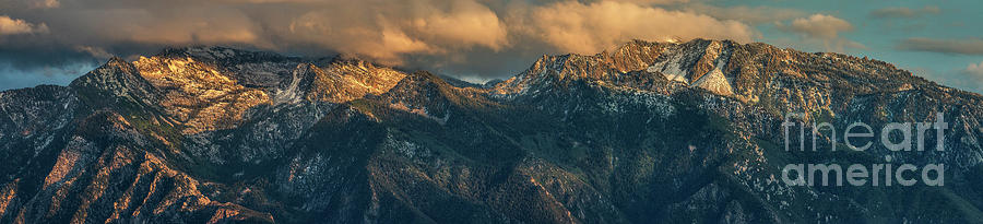 Sunset on Lone Peak Wilderness Area by Spencer Baugh