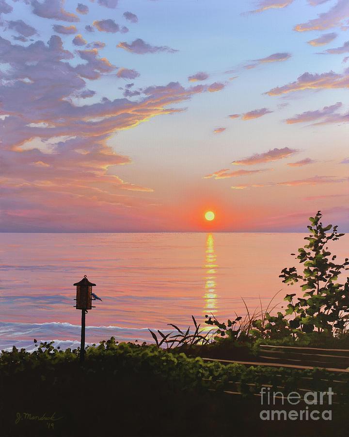 Sunset on the Lake by Joe Mandrick