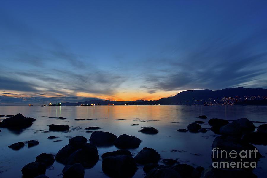 Sunset On The Rocks Photograph
