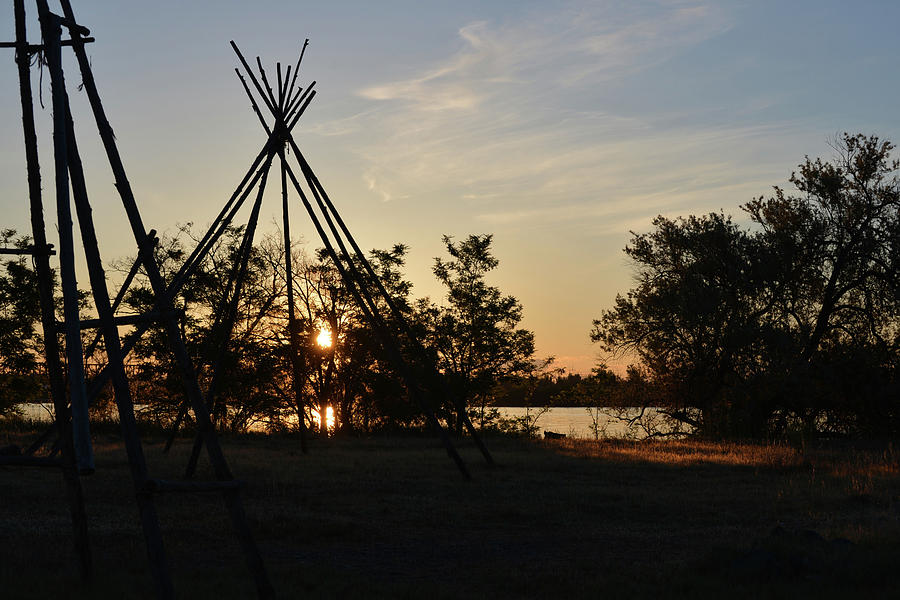 Sunset On The Tipi Photograph
