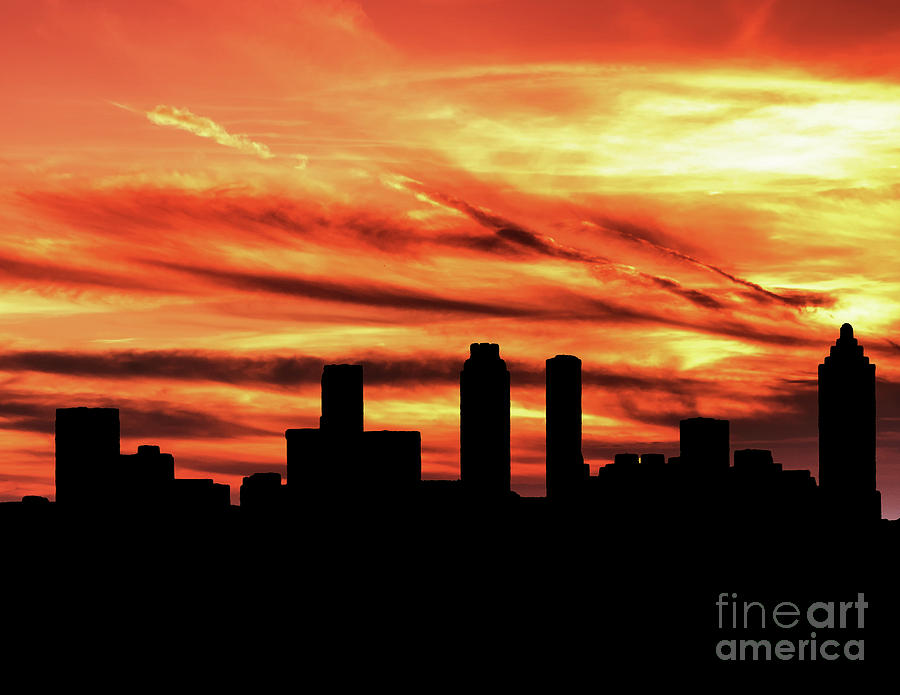 Sunset over Atlanta by Nick Zelinsky
