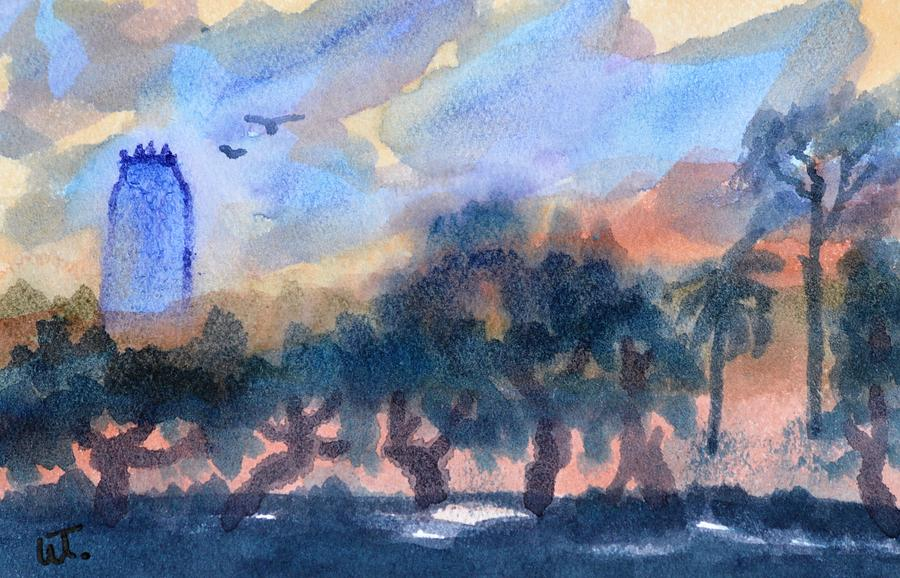 Sunset Over Bok Tower Gardens 2  by Warren Thompson