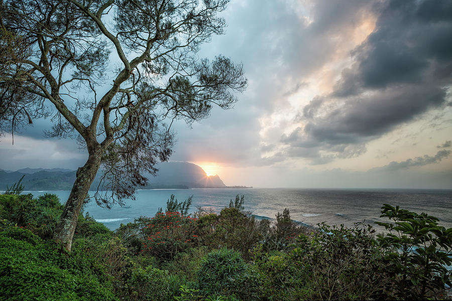 Sunset Over Hanalei Bay From St Regis Photograph