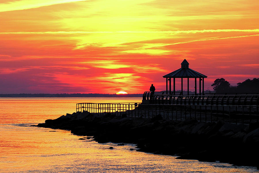 Sunset Over Indian River Bay by Bill Swartwout Photography