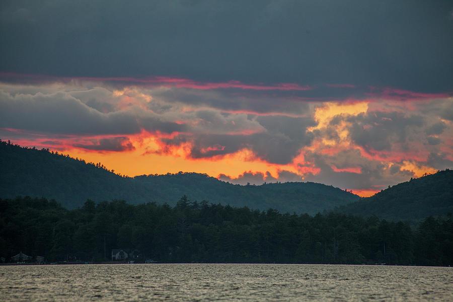 Sunset Over Lake Waukewan - Meredith, NH by Trevor Slauenwhite