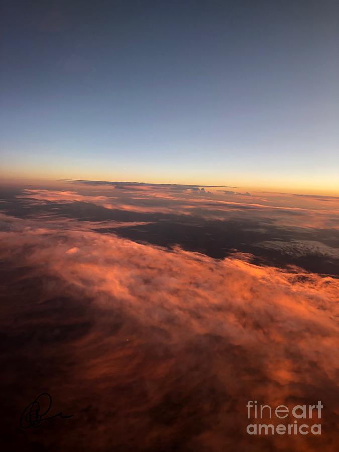 Sunset over Montana by Ann E Robson