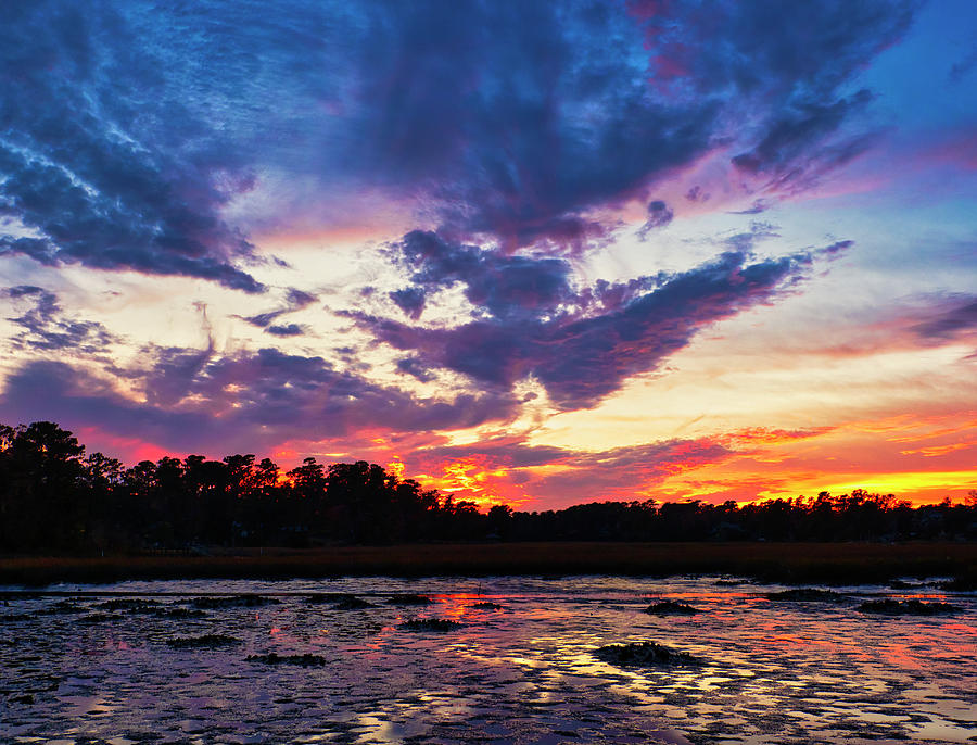 Sunset Over Page's Creek by David Kay