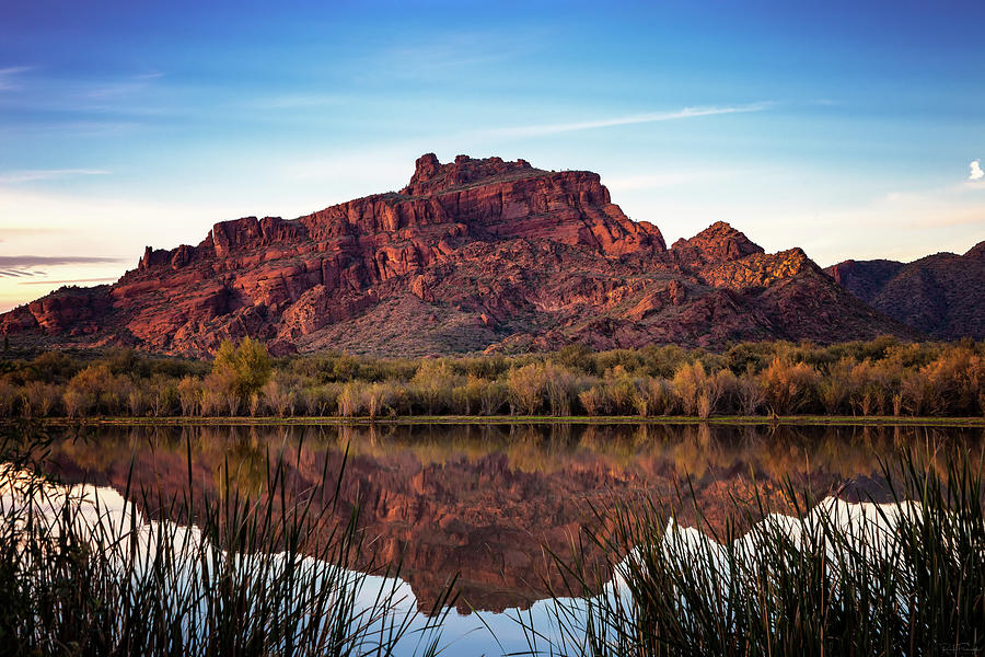 Sunset Over Red Mountain by Rick Furmanek