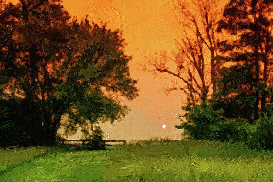 Sunset over rural Kentucky by Alexey Stiop