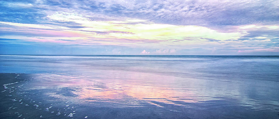 Sunset Photograph - Sunset Over the Atlantic - North Carolina Crystal Coast by Bob Decker