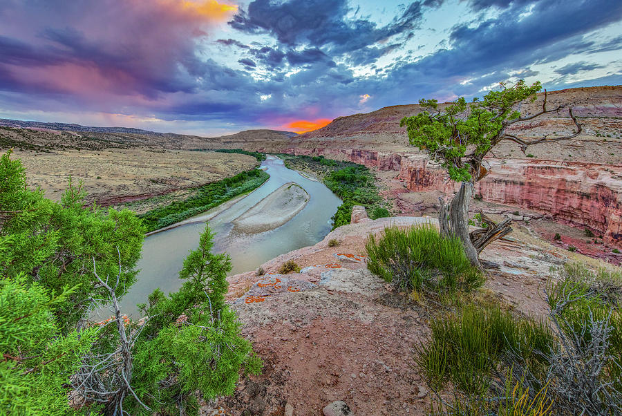 Sunset Over The Colorado River 7172 Photograph