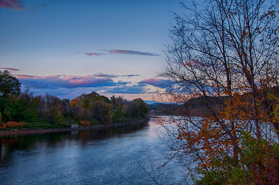 Sunset Over The Connecticut River Photograph