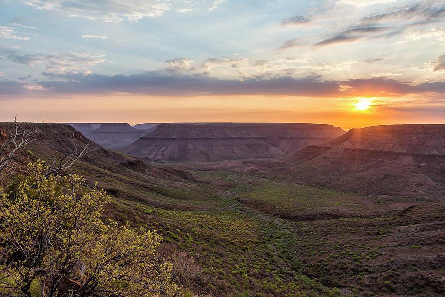Sunset Over the Klip River Valley by Belinda Greb