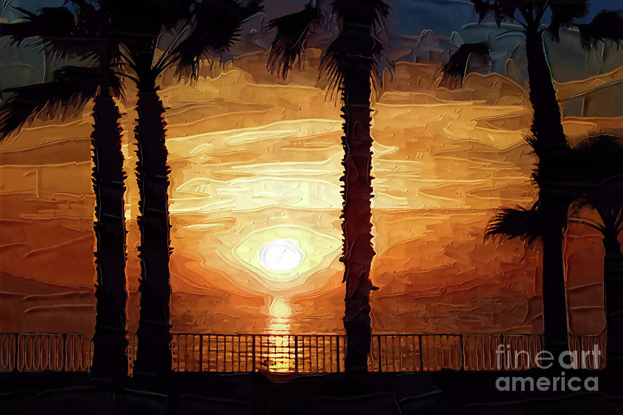 Sunset Digital Art - Sunset Over The Pacific by Kirt Tisdale