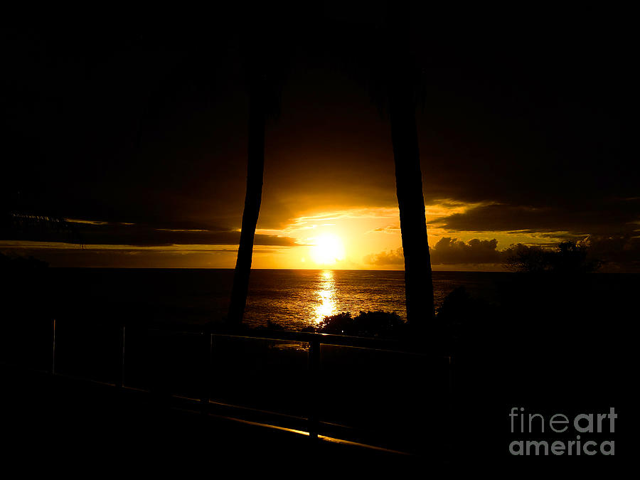 Sunset Over Water Photograph