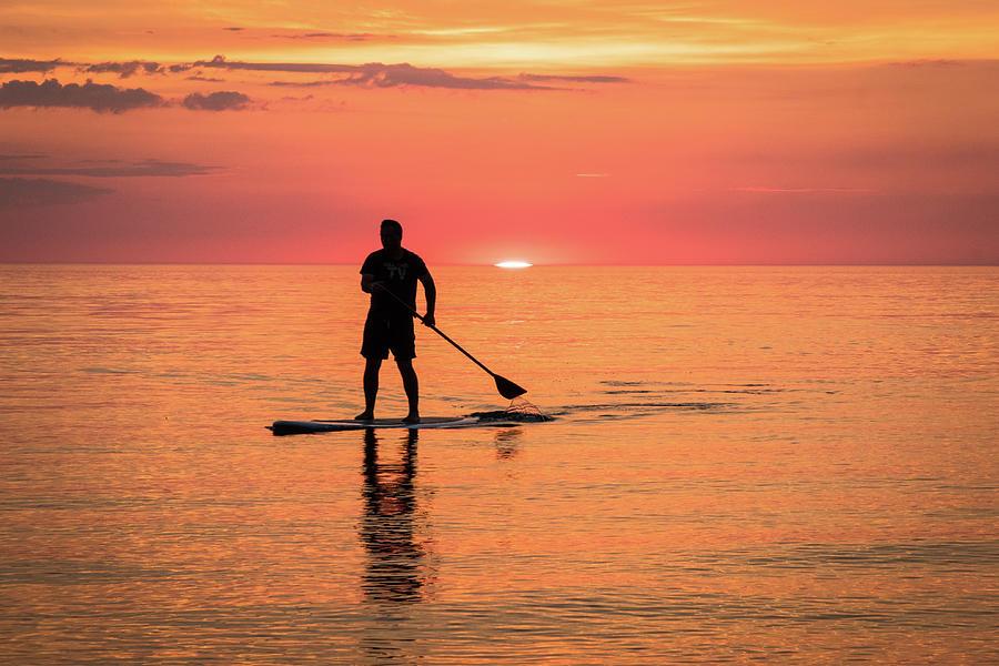 Sunset Paddle Photograph by Eden Watt