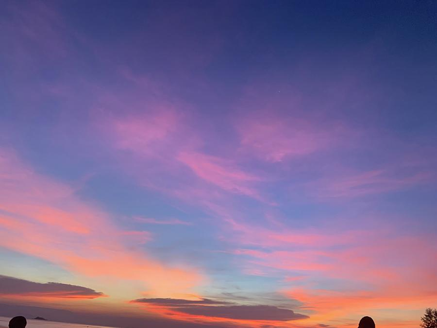 Sunset Photograph - Sunset pink and purple by Gary Wohlman