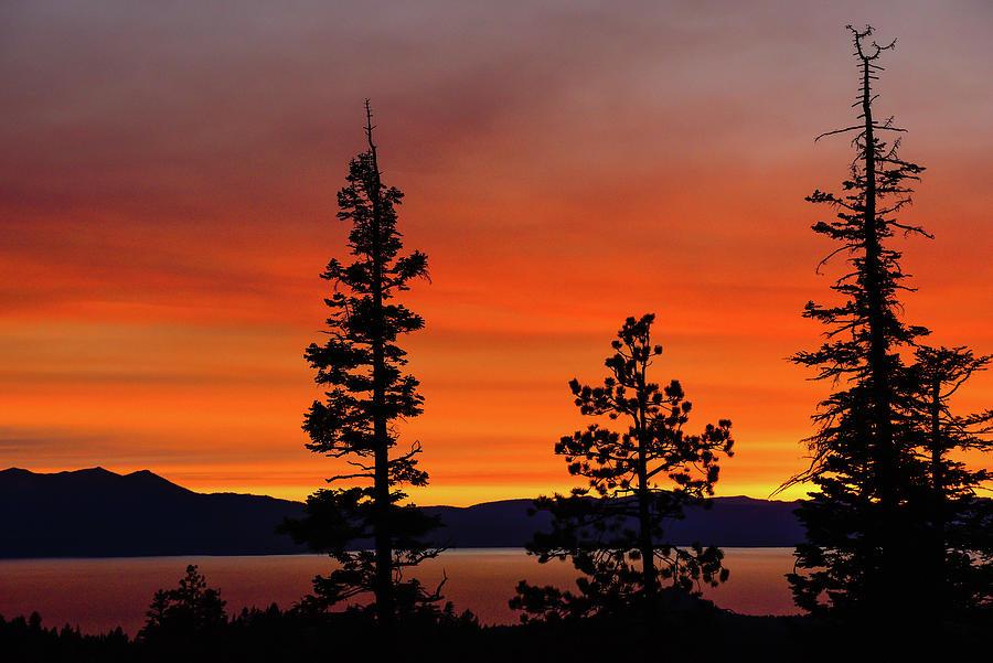 Sunset Rainbow Of Orange - Lake Tahoe - Nevada Photograph