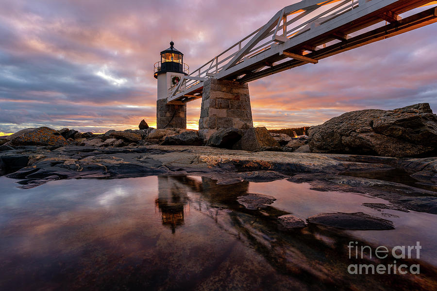 Sunset Reflections at Marshall Point by Jesse MacDonald