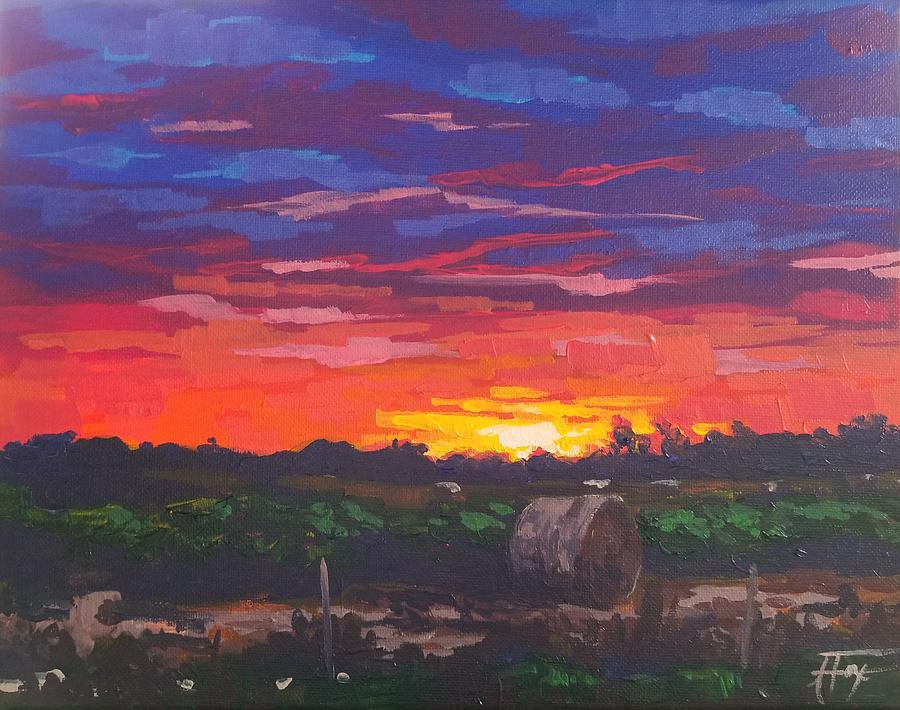 Sunset Painting - Sunset Soliloquy by Allison Fox