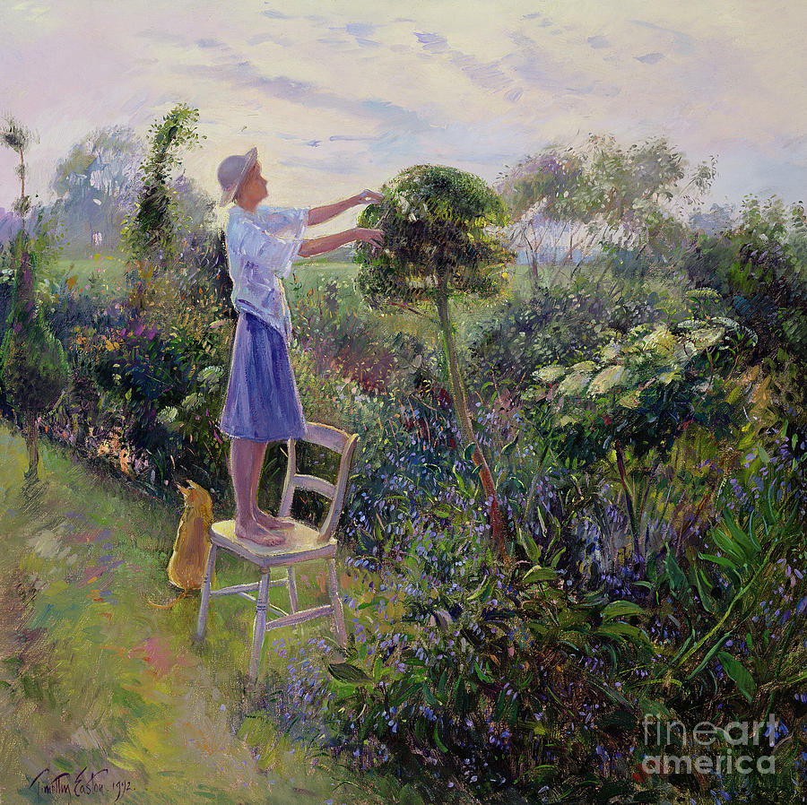 Sunset Painting - Sunset Trim by Timothy Easton