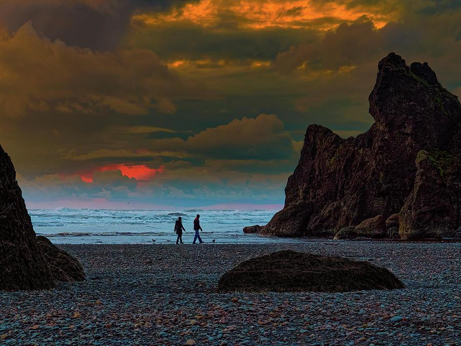 Sunset Walk by Thomas Hall