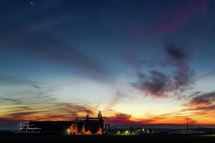 J B Thompson Photograph - Sunset Yolo Bypass by Jim Thompson