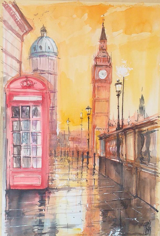 Sunshine After Rain, London View Painting