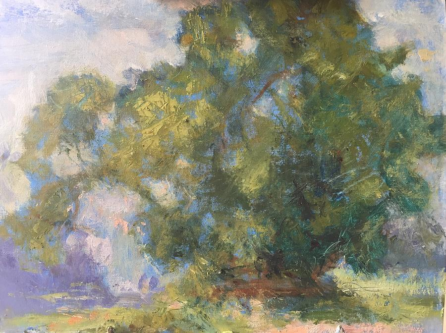 Sunshine Day, original impressionist, plein air, painting by Quin Sweetman