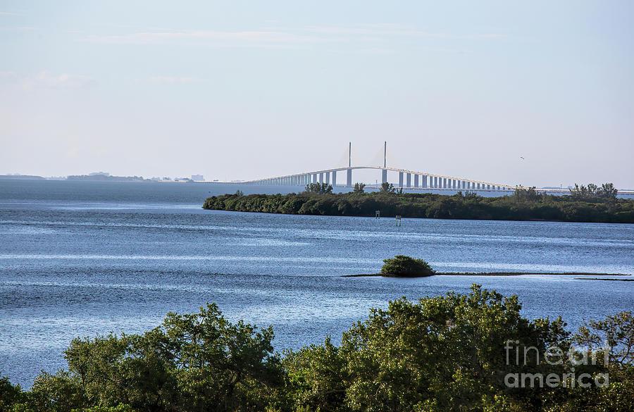 Sunshine Skyway Bridge Photograph - Sunshine Skyway Bridge, Tampa Bay, Florida by Felix Lai