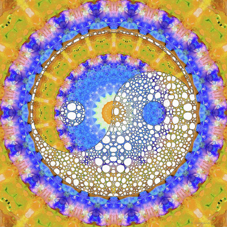 Yin Painting - Sunshine Yin And Yang Art - Sharon Cummings by Sharon Cummings
