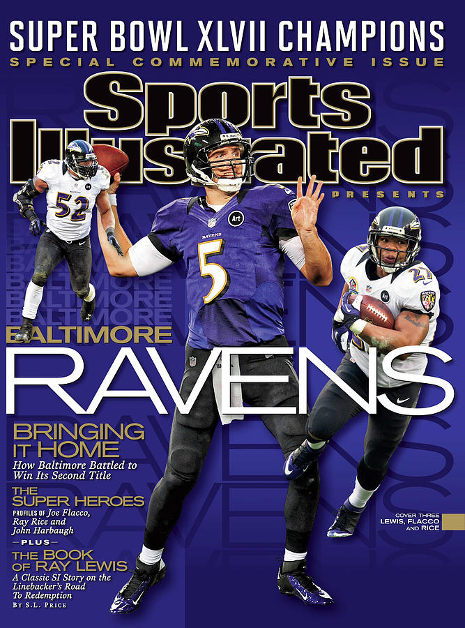 Super Bowl XLVII Champion Baltimore Ravens Sports Illustrated Cover Photograph by Sports Illustrated