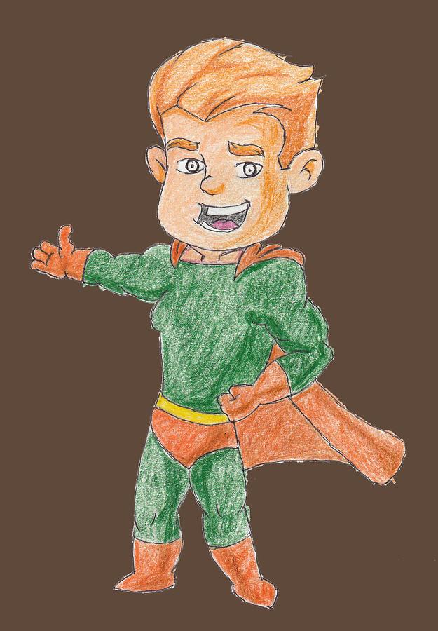 Super Drawing - Super Boy Cartoon Character by Sandeep Choudhary