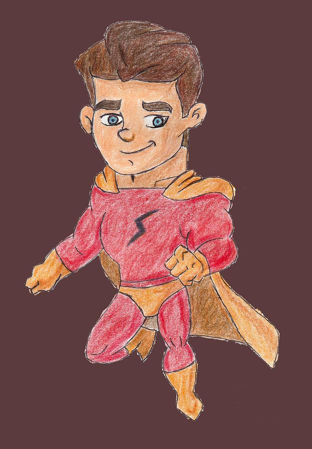 Super Drawing - Super Boy S by Sandeep Choudhary