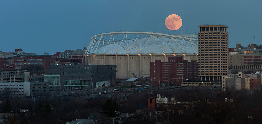 Supermoon Over The Dome Photograph