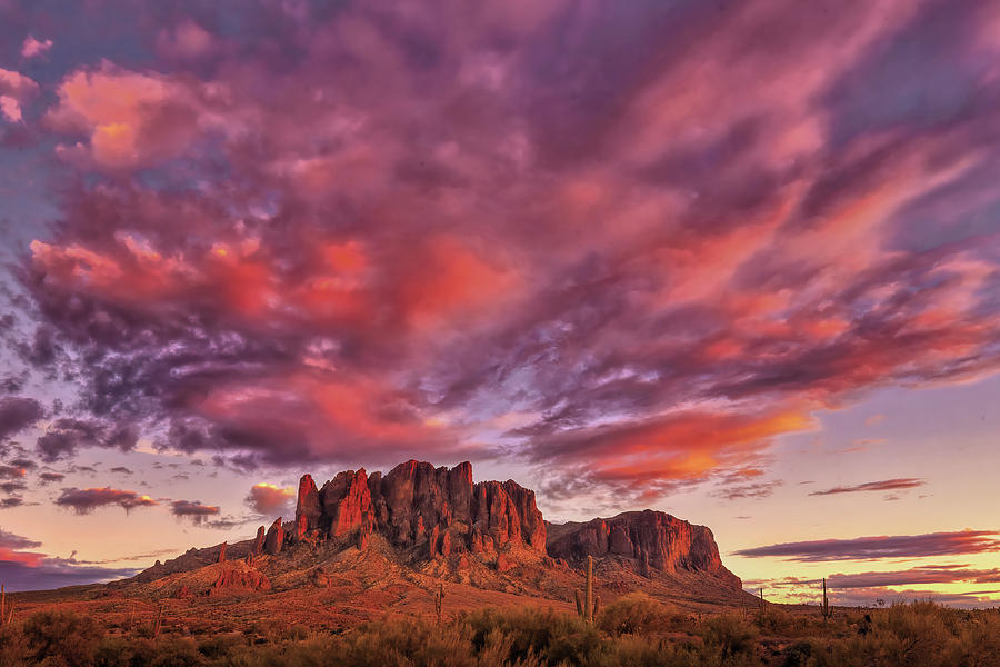 Superstition Sunset 6662 Photograph