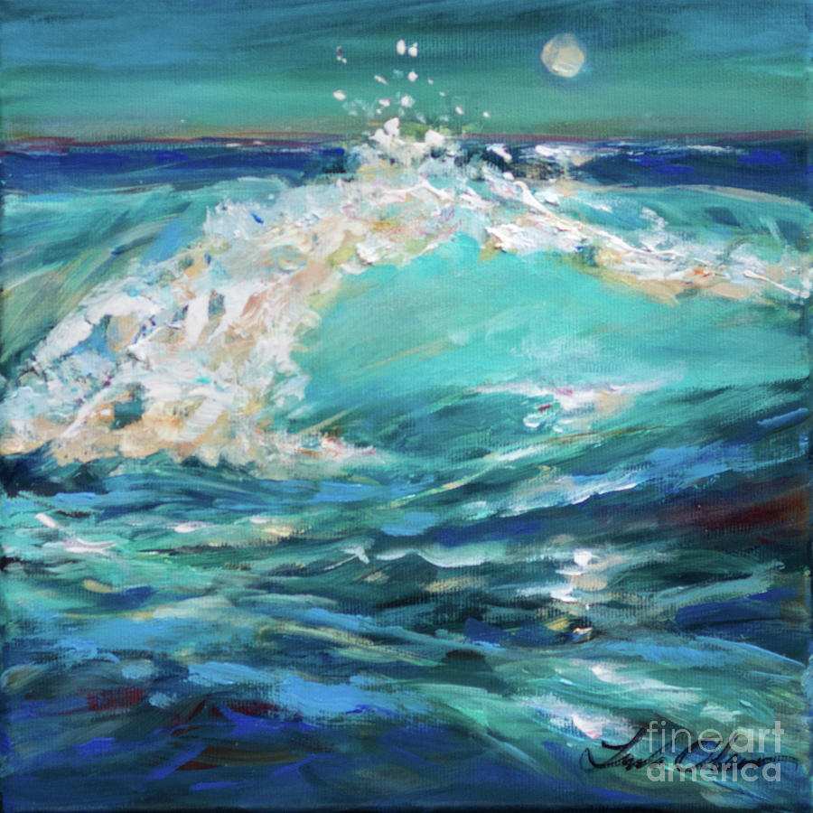 Surf in Moonlight by Linda Olsen