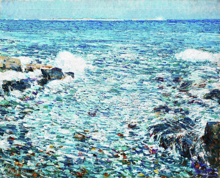 Surf Painting - Surf, Isles Of Shoals - Digital Remastered Edition by Frederick Childe Hassam