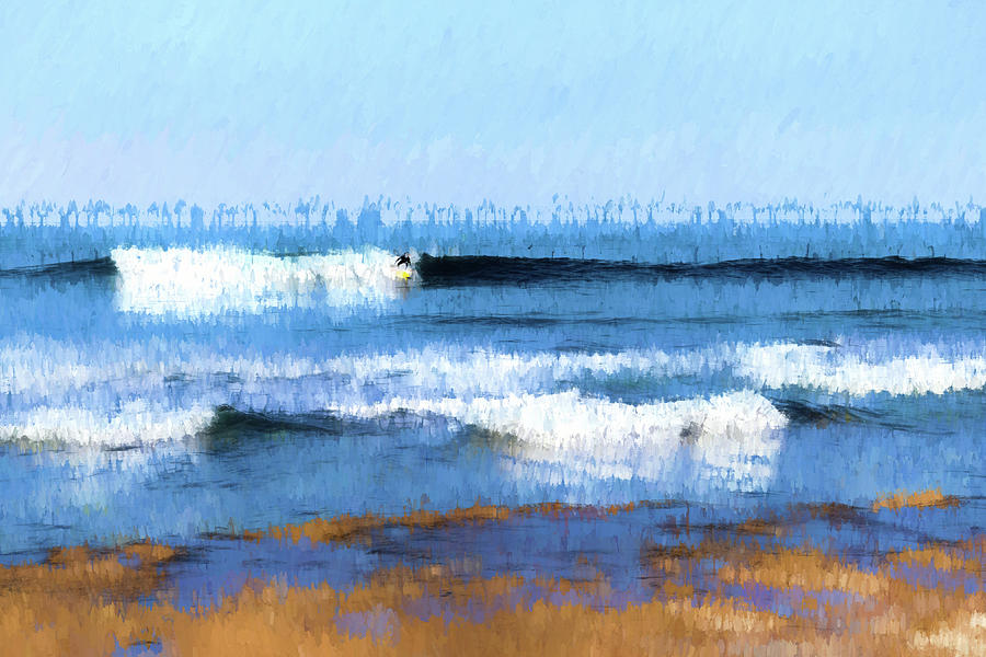 Surfer Abstract by Wade Brooks