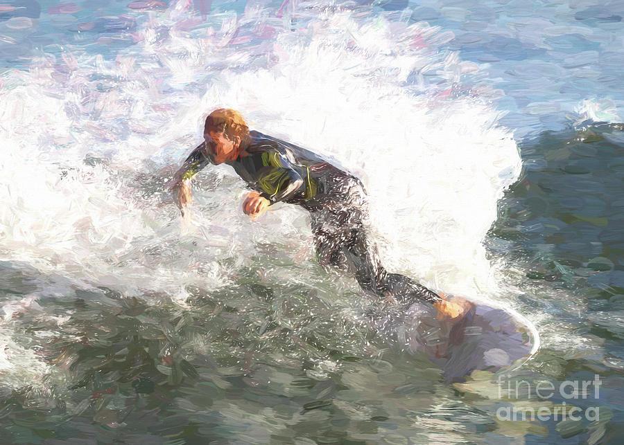 Surf Digital Art - Surfer Dude by Chris Mautz